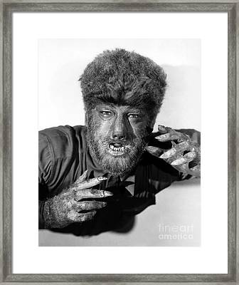 Lon Chaney As The Wolfman Framed Print