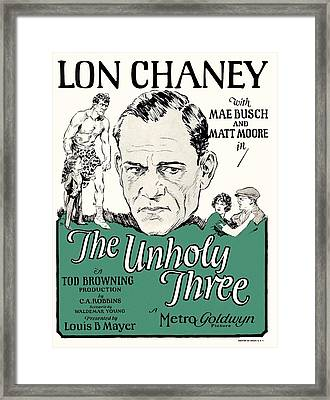 Lon Chaney In The Unholy Three 1925 Framed Print by Mountain Dreams