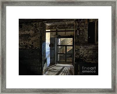 Framed Print featuring the mixed media Lonaconing Light by Terry Rowe