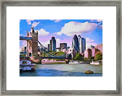 London 01 Framed Print