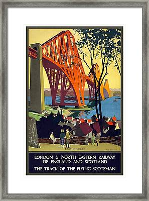 London And North Eastern Railway - Retro Travel Poster - Vintage Poster Framed Print