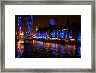 London At Night Framed Print by Karlis Petersons