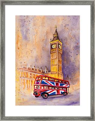 London Authentic Framed Print by Miki De Goodaboom