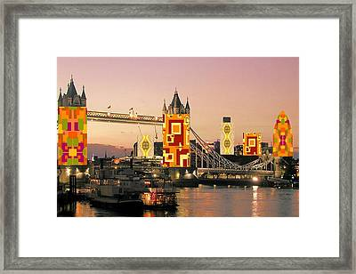 Framed Print featuring the digital art London Autumn Collage by Julia Woodman