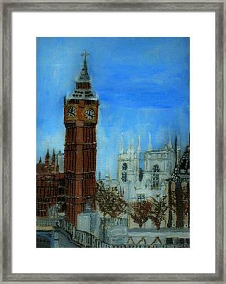 London Big Ben Clock  Framed Print
