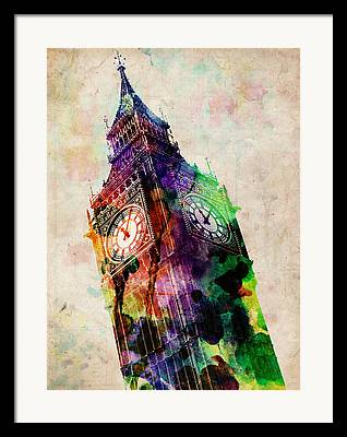 London Digital Art Framed Prints