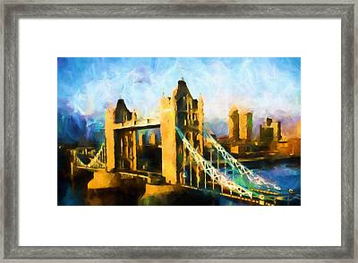 London Bridge Abstract Realism Framed Print