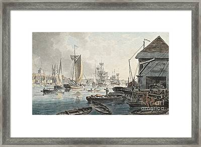 London Bridge And Southwark Cathedral  Framed Print by MotionAge Designs