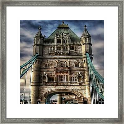 Framed Print featuring the photograph London Bridge by Digital Art Cafe