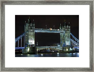 London Bridge At Night Framed Print by Kamil Swiatek
