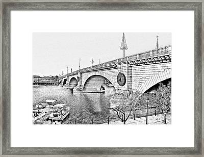 London Bridge Lake Havasu City Arizona Framed Print