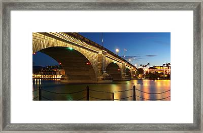 Twilight Reflections Framed Print