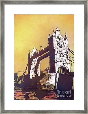 Framed Print featuring the painting London Bridge- Uk by Ryan Fox
