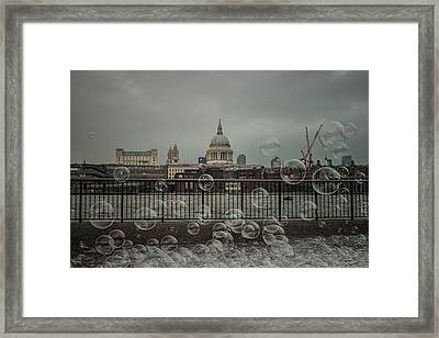 London Bubbles Framed Print