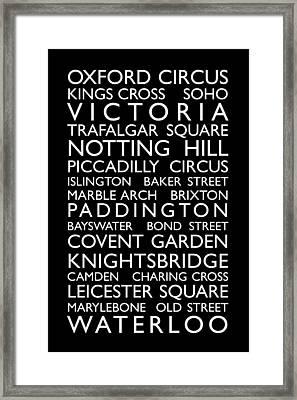 London Bus Roll Framed Print by Michael Tompsett