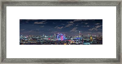 Framed Print featuring the photograph London By Night by Stewart Marsden