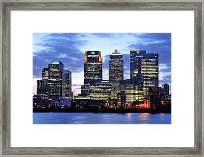 London Canary Wharf Framed Print by Marek Stepan
