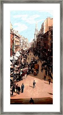 Framed Print featuring the painting London Cheapside by James Shepherd