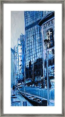 London City Blue Framed Print by Paul Mitchell