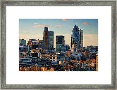 Framed Print featuring the photograph London City Of Contrasts by Lois Bryan