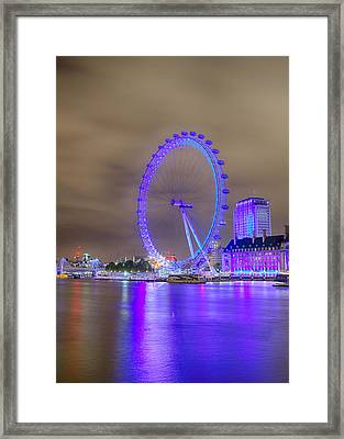 London Cityscape At Night 5x7 Framed Print