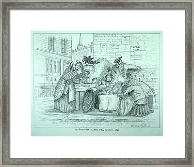 London Coffee Stall Framed Print
