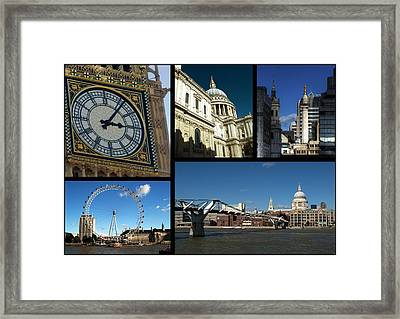 London Collage Framed Print by Chris Day