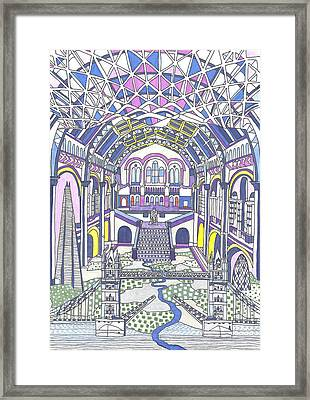 London Composition 1 Framed Print by Ushma Sargeant