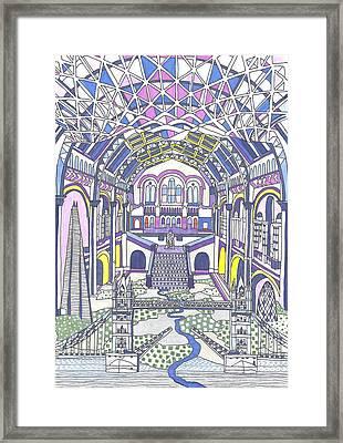 London Composition 1 Framed Print