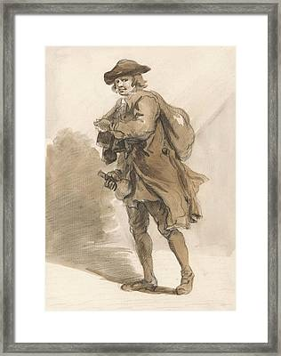 London Cries - A Man With A Bottle Framed Print by Paul Sandby