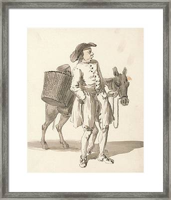 London Cries - Boy With A Donkey Framed Print by Paul Sandby