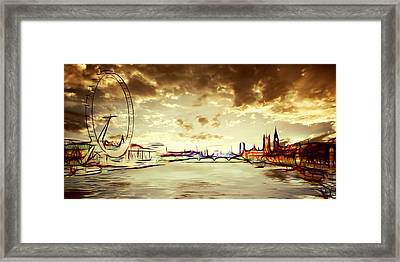 London Dawn Framed Print by Sharon Lisa Clarke
