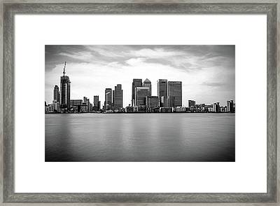 London Docklands Framed Print by Martin Newman