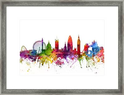 London England Cityscape 06 Framed Print by Aged Pixel