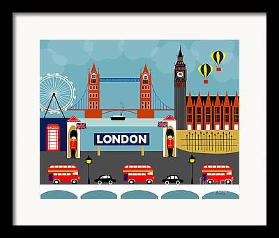 Buckingham Palace Digital Art Framed Prints