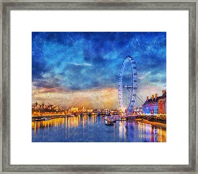 Framed Print featuring the photograph London Eye by Ian Mitchell