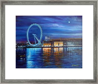 London Eye Framed Print by Janet Silkoff