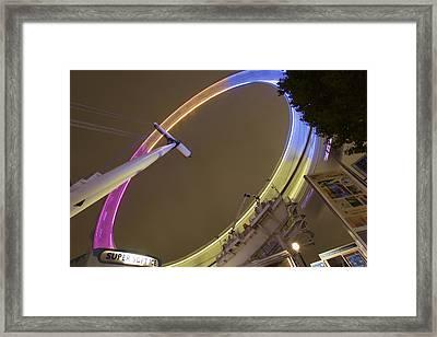 london Eye Framed Print by John Isgar
