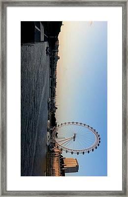 London Eye Framed Print by Namaya Navaratnarajah
