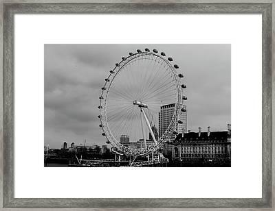 London Eye Oldskool Framed Print by Saif Rehman