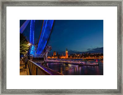 London Eye Pier Framed Print by Savash Djemal