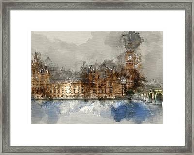 London Famous Places - Westminster Bridge 2 - By Diana Van Framed Print