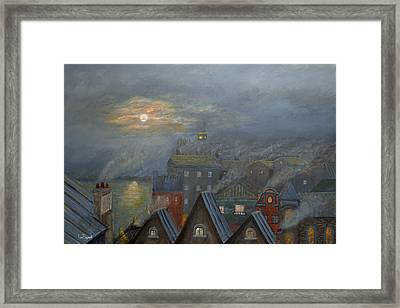 London Fog Framed Print