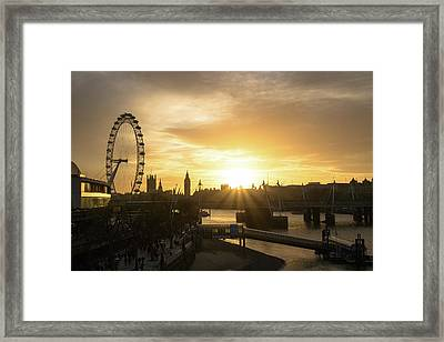 London Golden Hour Framed Print by Cheryl Page
