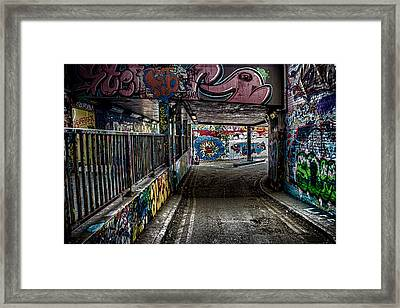 London Graffiti Framed Print by Martin Newman