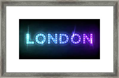 London In Lights Framed Print