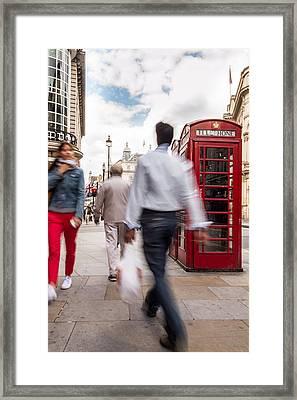 London In Motion Framed Print