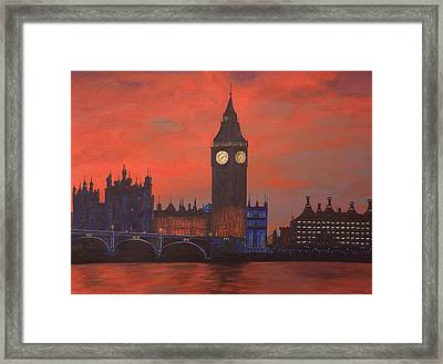 London Framed Print by Jennifer Lynch