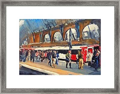 London Kings Cross Station Framed Print