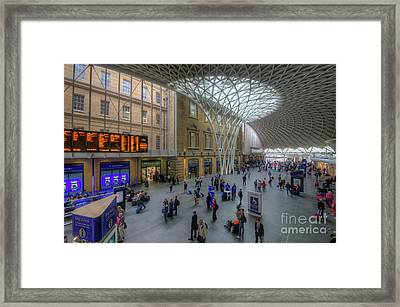 Framed Print featuring the photograph London King's Cross by Yhun Suarez
